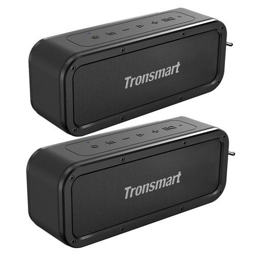 [2 Packs] Tronsmart Force SoundPulse™ 40W Bluetooth Speaker IPX7 Water Resistant Siri TWS & NFC 15 Hours Playtime