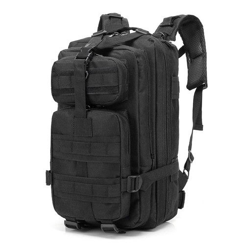 Multi-functional Sports Backpack 30L 3P Military Backpack For Camping Traveling Hiking Trekking - Black