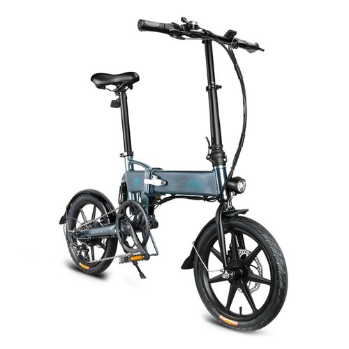 FIIDO D2S Folding Moped Electric Bike Gear Shifting Version City Bike Commuter Bike 16-inch Tires 250W Motor Max 25km/h SHIMANO 6 Speeds Shift 7.8Ah Battery - Dark Gray