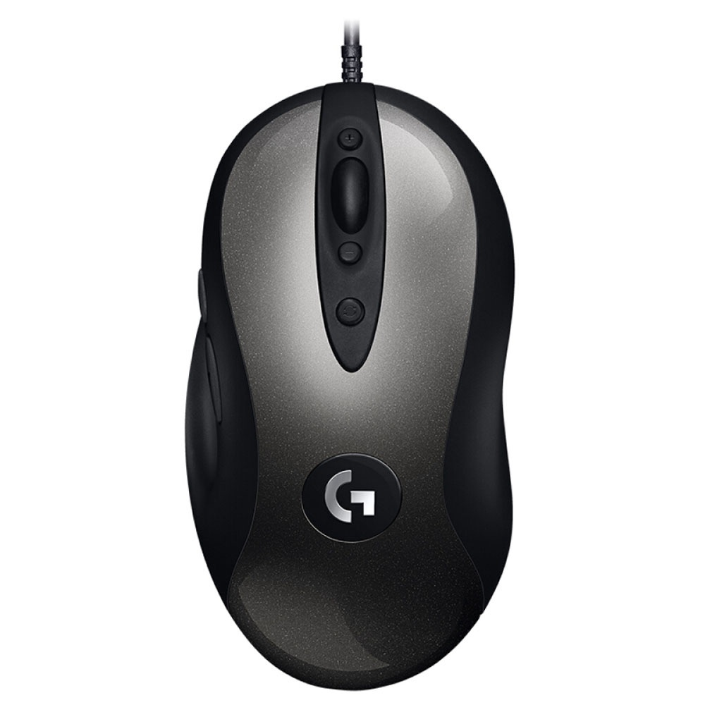 Logitech MX518 Classic Gaming Mouse 8 Programmable Buttons 16000 DPI Right Hand Wired - Black