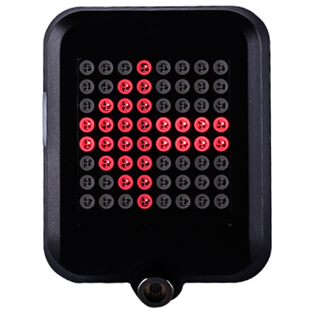 64-led Intelligent Bicycle Taillight 80 Lumens 1200mAh Automatic Direction Indicator Light