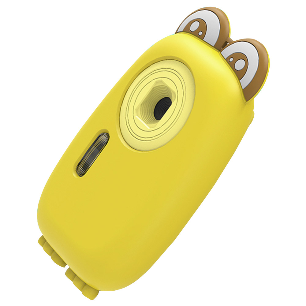 AMKOV CD-PB Digital Kids Camera Mini Portable Waterproof Rechargeable - Yellow Case