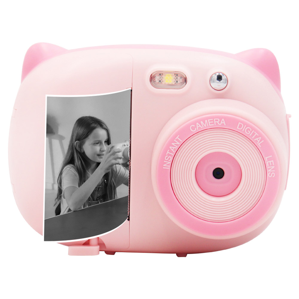 AMKOV CD-P02 Digital Kids Instant Print Camera Rechargeable - Pink