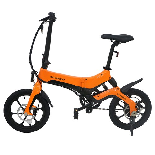 ONEBOT S6 Portable Folding Electric Bike 250W Motor Max 25km/h 6.4Ah Battery - Orange