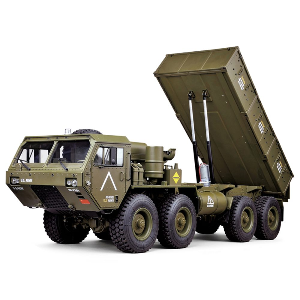 HG P803A 2.4G 8CH 1/12 Self-unloading Bucket 8X8 U.S.Military Truck