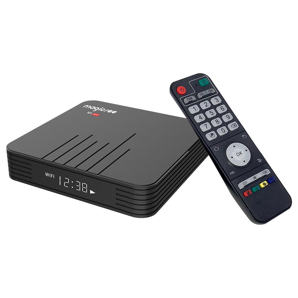 MAGICSEE N5 MAX Amlogic S905X3 Android 9.0 8K Video Decode TV BOX 4GB/32GB 1000Mbps LAN HDMI2.1 2.4G+5G WIFI Bluetooth USB3.0