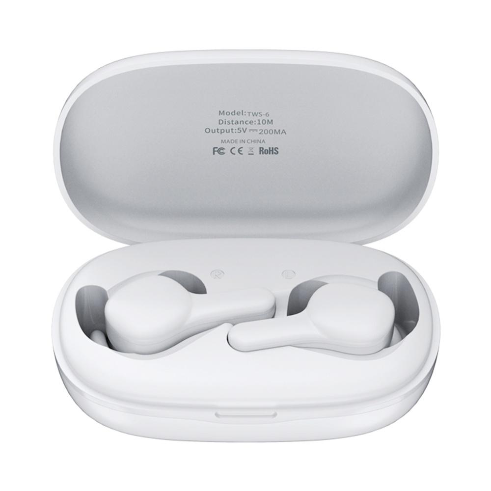 Remax TWS-6 Bluetooth 5.0 TWS Earphones Siri Battery Display