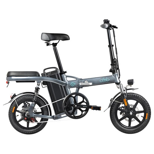 FIIDO L2 Folding Electric Moped Bike City Bike Commuter Bike Max 25km/h Three Riding Modes 20Ah Lithium Battery 14 Inch Tire - Dark Gray