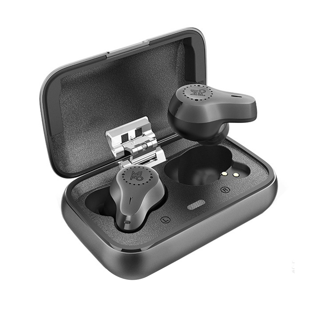 Mifo O7 Bluetooth 5.0 TWS Qualcomm QCC3020 Earphones Balanced Armature Used Independently IPX7 aptX 7 Hours Playtime - Black