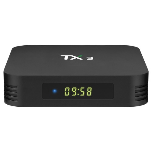 TANIX TX3 ALICE UX Amlogic S905x3 8K Video Decode Android 9.0 TV Box 4GB/64GB Bluetooth 2.4G+5.8G WiFi LAN USB3.0 Youtube Netflix Google Play