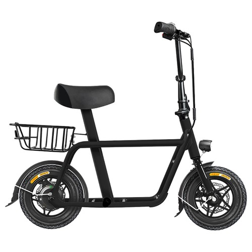 FIIDO Q1 Folding Electric Moped Bike 12 Inch 250W Brushless Motor Up To 35-55km Range Dual Disc Brake Electronic Lock LED Display - Black
