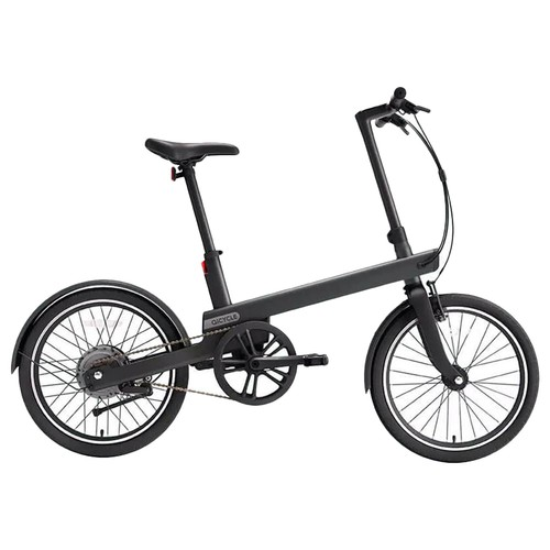 QiCYCLE TDP02Z Electric Bike 20 Inch Tires 180W Motor Up To 40km Range Integrated Handlebar Light-Sensitive Display - Black