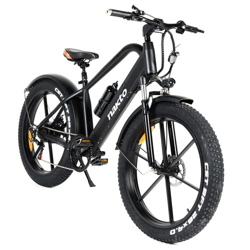 NAKTO GYL019 Direwolf Electric Bicycle 500W Motor 26*4.0 Wide Tires Max Speed 25km/h Dual Disc Brake LCD Meter