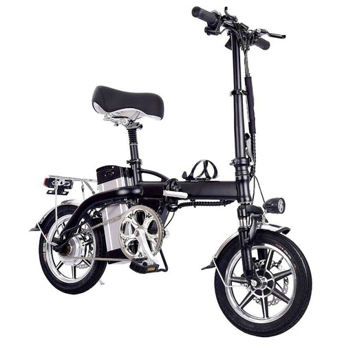 GYL004 Folding Electric Bike 14 Inch Tire 350W Motor Max Speed 35km/h Up To 35km Range Dual Disc Brake - Black