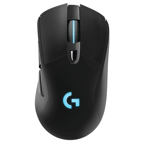 Logitech G703 LIGHTSPEED Wireless Gaming Mouse 16000DPI Hero 16K Sensor Powerplay Wireless Charging RGB Light - Black