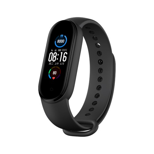 Xiaomi Mi Band 5 Smart Bracelet Bluetooth 5.0 Sports Fitness Tracker Chinese Version - Black