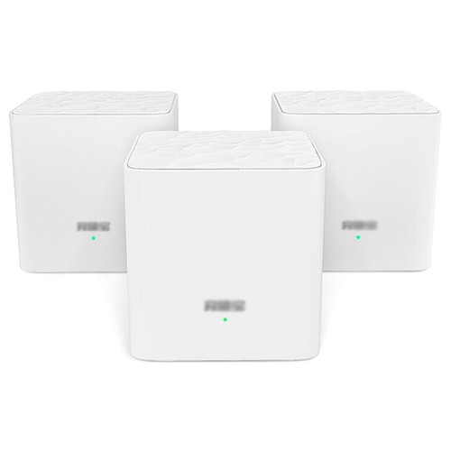 3PCS TENDA MW3 Mesh 2.4GHz + 5GHz WiFi Router Through-Wall Full Coverage Smart QoS AC 1200 Dual Frequency Support MU-MIMO Technology APP Control - White