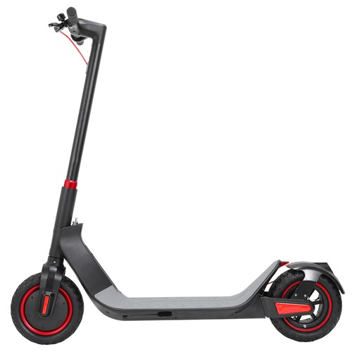 KUGOO G-Max Electric Scooter 10 Inch Pneumatic Tire 500W Brushless Motor Max Speed 35km/h  Up To 32km Rang 10.4AH Battery - Black