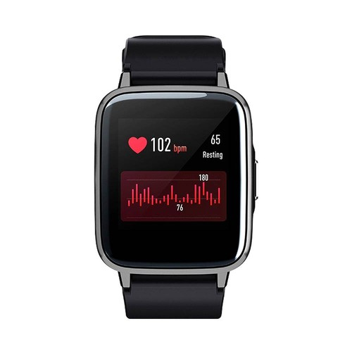 Haylou LS01 Smartwatch 1.3 Inch TFT Touch Screen IP68 Waterproof Heart Rate Sleep Monitor Global Version - Black