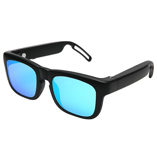 Mutrics MUSIG-X Smart Audio Sunglasses UV 400 Lens Qualcomm AptX cVc Virtual 5.1 IP55 Siri Google Assistant - Blue