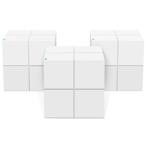 3PCS TENDA MW6 Mesh 2.4GHz + 5GHz WiFi Router Through-Wall Full Coverage Smart QoS AC1200 Dual Frequency Support MU-MIMO Technology APP Control - White