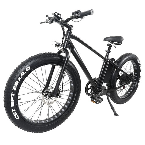 CMACEWHEEL GW26 Electric Moped Bicycle 26 x 4 Inch Fat Tire Three Modes 750W Motor Max Speed 45km/h 15AH Battery Up To 100km Range Disc Brake - Black