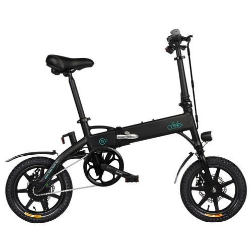 FIIDO D1 Folding Electric Moped Bike 11.6Ah Li-ion Battery City Bike Commuter Bike Three Riding Modes 14 Inch Tires 250W Motor Max 25km/h Speed Up to 40-55KM Range - Black