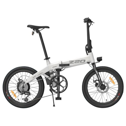 HIMO Z20 Folding Electric Bicycle 20 Inch Tire 250W DC Motor Up To 80km Range  Removable Battery Shimano 6-speed Transmission Smart Display Dual Disc Brake Europe Version - White