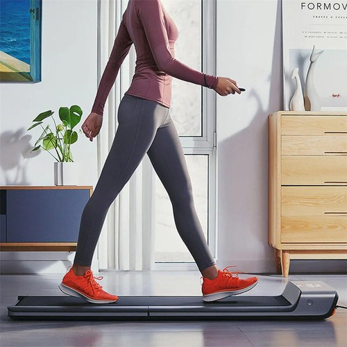 Xiaomi Mijia Smart Folding Walking Machine Non-slip Sports Treadmill Manual Automatic Modes Gym Fitness Equipment LED Display Connected with Mi Home App - Silver Gray