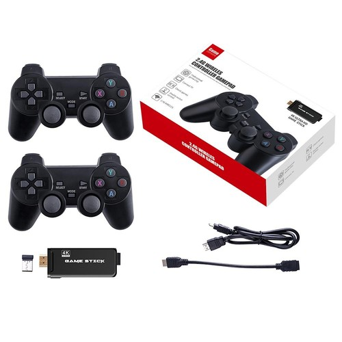 PS3000 64GB 4K Gaming Stick with 2 Wireless Gamepads 10000+ Games Pre-installed