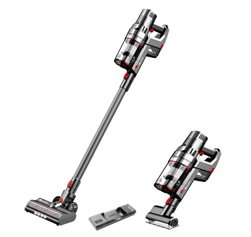 Proscenic P11 Handheld Cordless Vacuum Cleaner 25Kpa 450W 2 in 1 Vacuuming Mopping ,Touch Screen, Removable & Rechargeable 2500mAh Battery, Lightweight Vacuum for Hard Floor, Carpet, Pet Hair- Gray