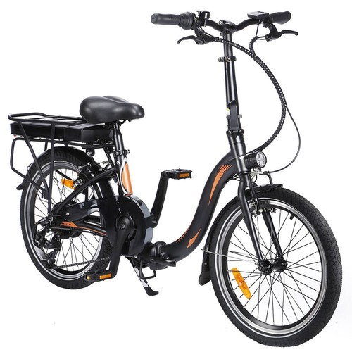 Dohiker 20F054 250W Electric Bike 20 Inch Folding Frame 7-Speed Gears With Removable 10AH Battery LED light - Black