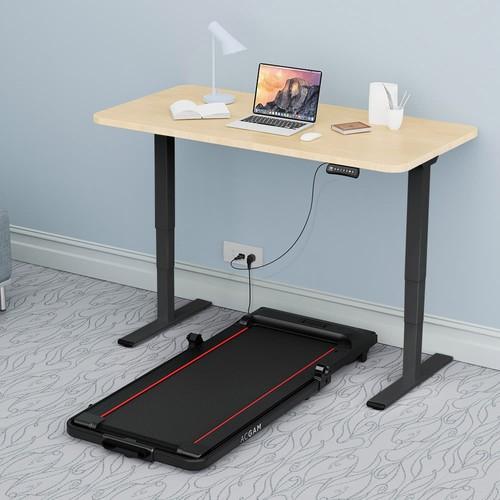 ACGAM ET225E Electric Dual-motor Three-stage Legs Standing Desk Frame Workstation, Ergonomic Height Adjustable Desk Base Gaming Desk - Black (Frame Only)