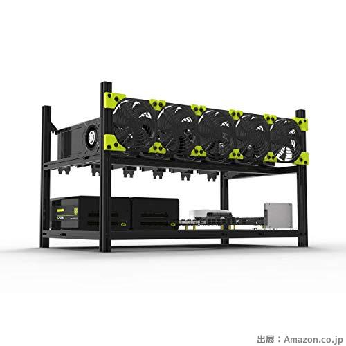 GPU 6枚 マイナーケース アルミ 積載可能なマイニングリグケース