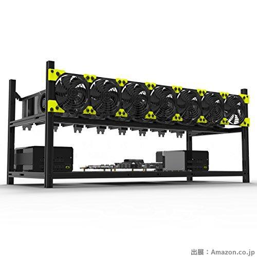 8 GPUアルミニウムスタック可能な鉱山ケースリグオープンエアーフレーム