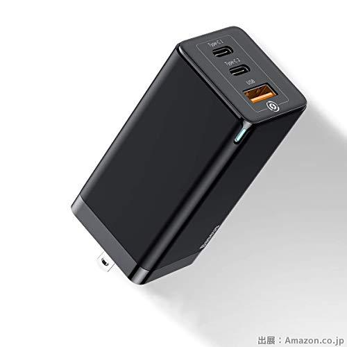 Baseus PD 充電器 USB-C 急速充電器 65W