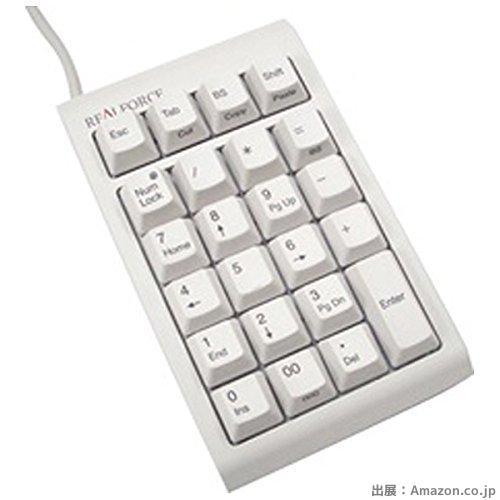 東プレ テンキー REALFORCE23U USB ホワイト