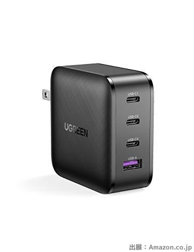 UGREEN PD充電器 65W GaN【USB A &USB-C×3】