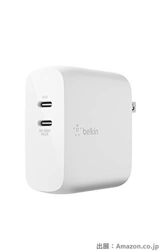 Belkin 充電器 USB-C 2ポート 68W(18W + 50-60W)