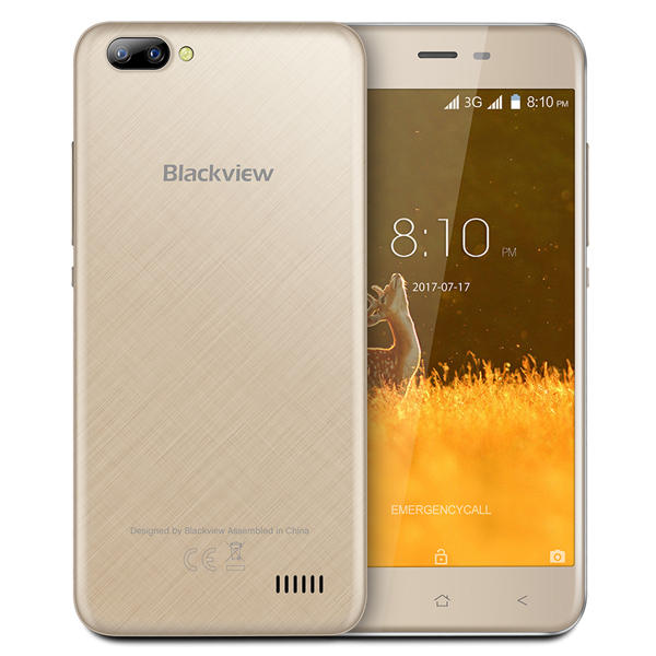 banggood Blackview A7 3G MTK6580A 1.3GHz 4コア GOLD(ゴールド)