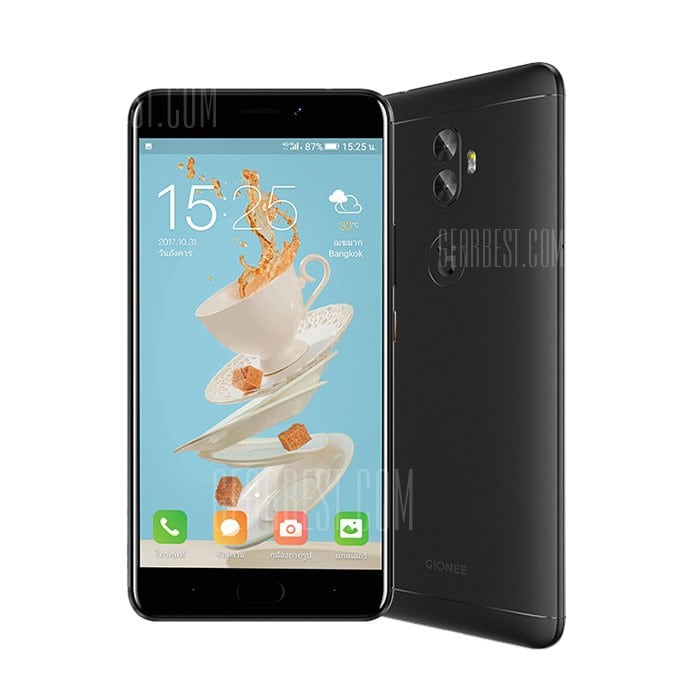 gearbest GIONEE A1 Plus MTK6757T Helio P25 2.5GHz 8コア BLACK(ブラック)