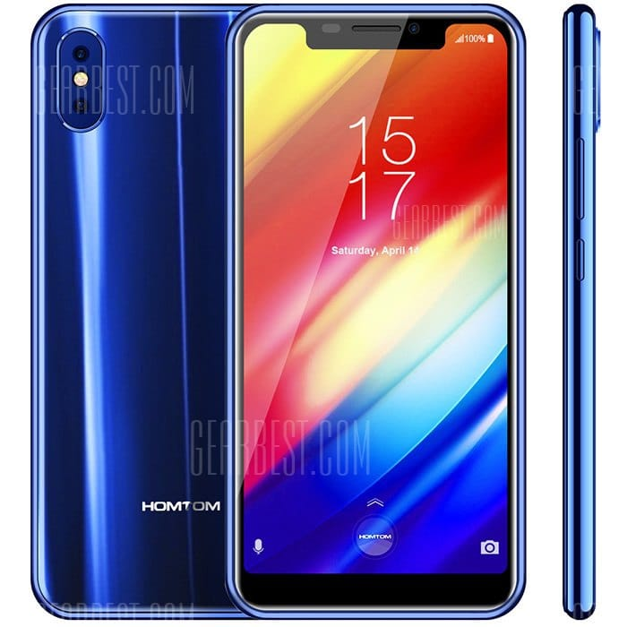 gearbest HOMTOM H10 MTK6750T 1.5GHz 8コア BLUE(ブルー)