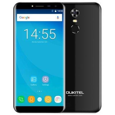 gearbest OUKITEL C8 MTK6737 1.3GHz 4コア BLACK(ブラック)