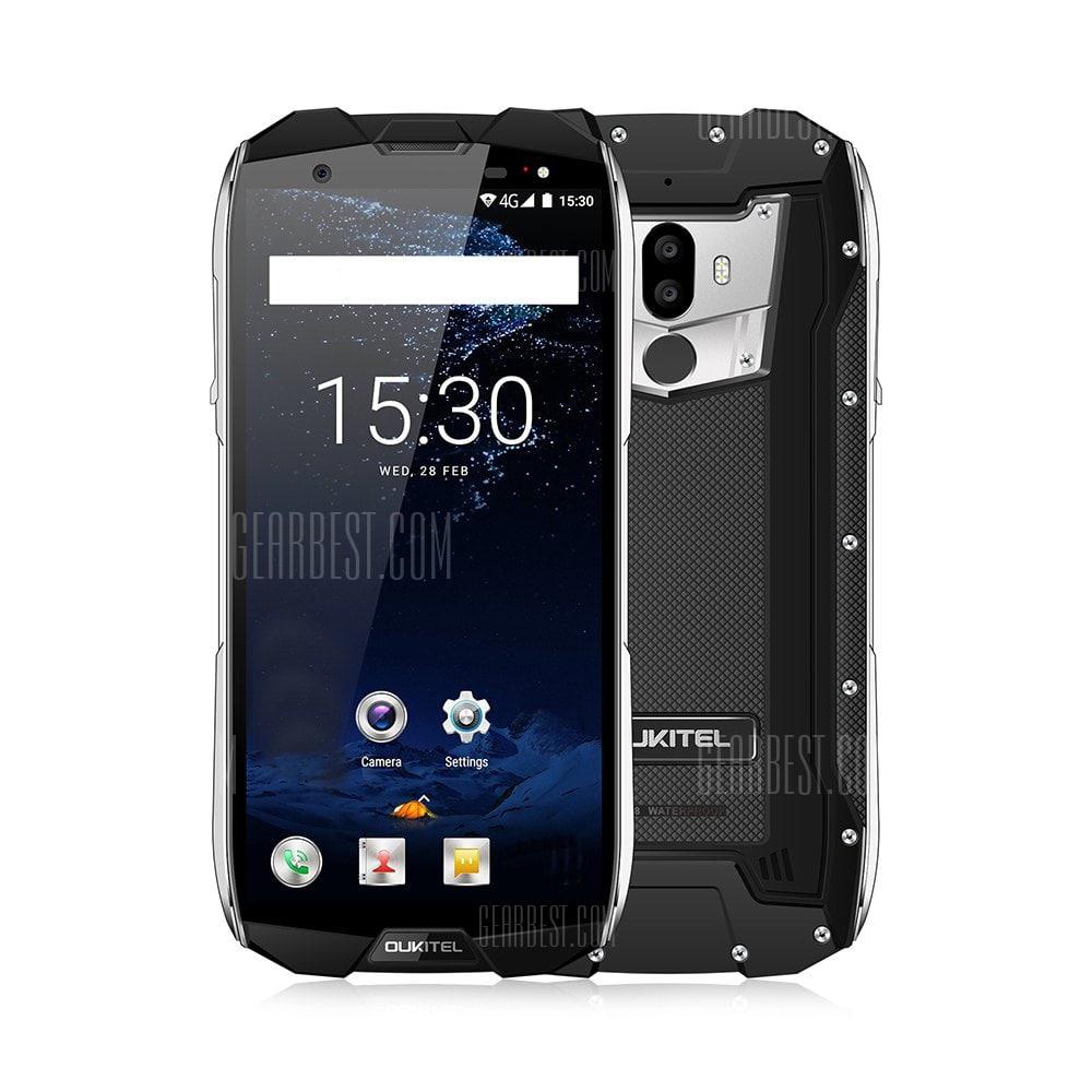 gearbest Oukitel WP5000 MTK6757T Helio P25 2.5GHz 8コア BLACK(ブラック)