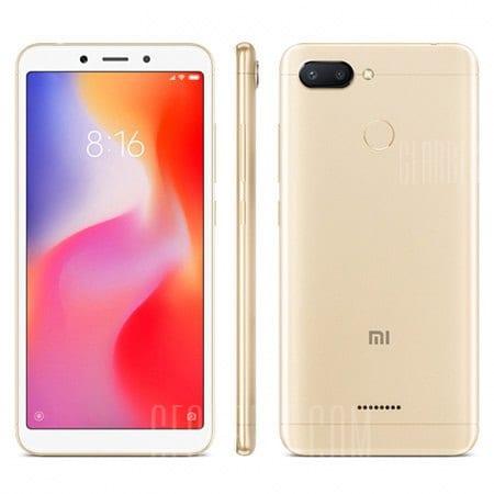 gearbest Xiaomi Redmi 6 MTK6762 Helio P20 2.0GHz 8コア GOLD(ゴールド)
