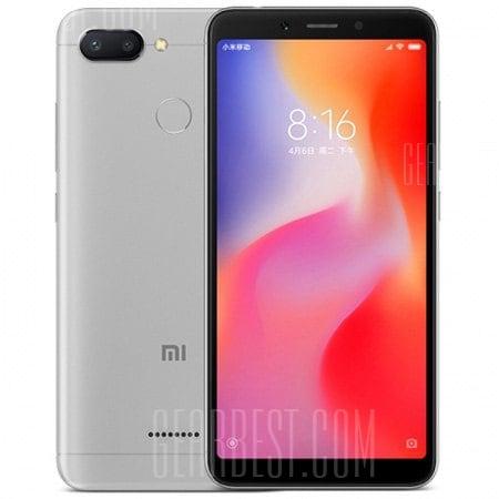 gearbest Xiaomi Redmi 6 MTK6762 Helio P20 2.0GHz 8コア GREY(グレイ)