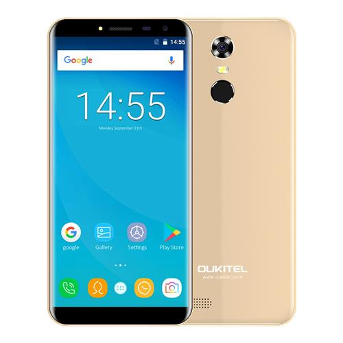 geekbuying OUKITEL C8 MTK6737 1.3GHz 4コア GOLD(ゴールド)