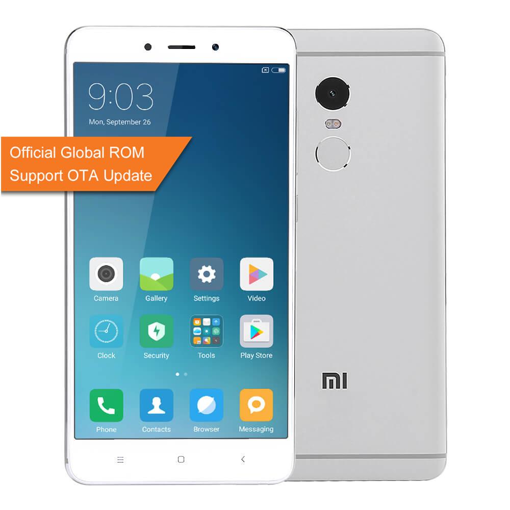 geekbuying Xiaomi Redmi Note 4 MTK6797 Helio X20 2.1GHz 10コア SILVER(シルバー)