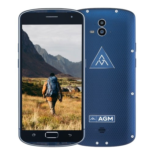 tomtop AGM X1 Snapdragon 617 MSM8952 1.5GHz 8コア BLUE(ブルー)