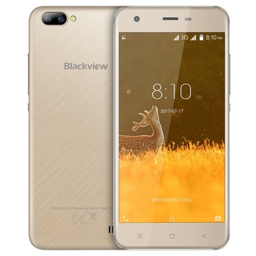 tomtop Blackview A7 3G MTK6580A 1.3GHz 4コア GOLD(ゴー�